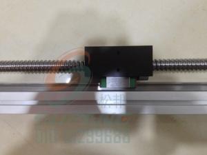 42滚珠丝杆带线轨导轨滑台/带线轨导轨滑动模块有效行程400mm