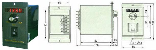 UX调速器外形尺寸图
